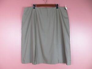 SK10204- NWT TALBOTS Woman Wool Seasonless Pencil Skirt Greenish Brown 24W $118