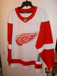 NWT Mens Size 54 Detroit Red Wings Adidas Authentic Jersey 252JA New