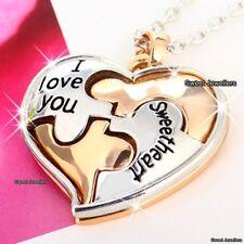 Geschenke für Sie rosegold Liebe Herz Halskette Weihnachten Ehefrau Damen