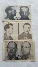 Vintage 3 montreal Police or  Criminal Photos pictures Black & White