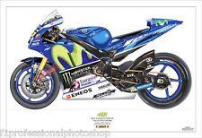 Valentino Rossi 2016 Yamaha YZR M1- print No 46/250