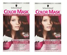 2 X Schwarzkopf Colore Maschera permanente colore 568 Chestnut Brown