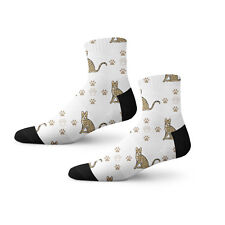 Savannah Cat Paws Fun Cool Novelty 3.5 in Men Women Socks