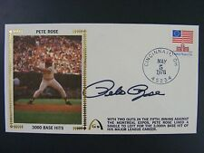 Pete Rose Autographed Signed Gateway Silk Cache Envelope 3000th Hit 1978 Reds