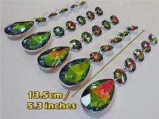 Araña de XL 5 Cristales De Vidrio Color AB Oval Guirnalda Árbol de Navidad Decoración