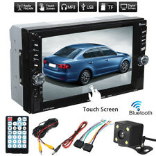 6.6'' Touch Screen Bluetooth 2Din Car Stereo Radio FM SD TF MP5 Player + Carema