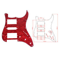 3 Ply Guitar Pickguard for Fender ST Strat HSH Pickup Red Pearl
