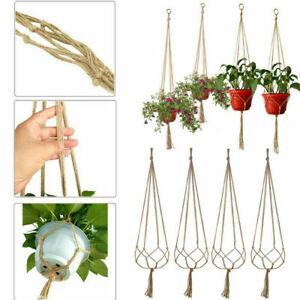 4X Garden Plant Hanger Macrame Hanging Planter Basket Rope Flower Pot Holder