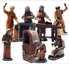 Figura Belen J.L. Mayo (11 cms) - Conjunto 7 Artesanos mas horno - BEL957