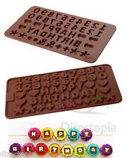 Buon Compleanno Numero Forma Torta Fondente Cioccolato Pasticceria STAMPO IN SILICONE GHIACCIO
