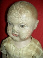 Rare antique Philadelphia Baby cloth doll by Jb Sheppard & Co. & orig.1900 photo