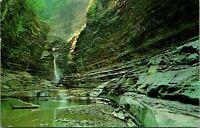 Watkins Glen State Park NY Central Cascade Postcard used (26773)