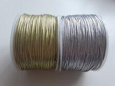 1,5mm Braided Metallic cord thread Great for crochet macrame trim stitch 5M 10M