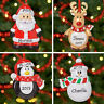 Personalised Christmas Tree Xmas Decoration Ornament Penguin Santa Reindeer Snow