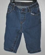 babyGAP Size 6-12 Months Boys Blue Pull-On Snap Crotch Fully Lined Denim Jeans
