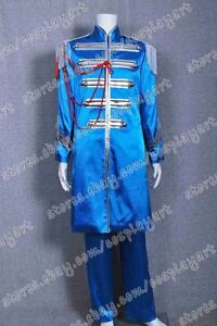 The Beatles Sgt Pepper Cosplay Sir James Paul McCartney Blue Costume Uniform New