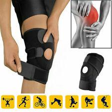 Adjustable Knee Arthritis Support Brace Guard Stabilizer Strap Wrap BLACK
