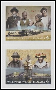 Canada 3274a Black History Amber Valley Willow Grove 'P' vert pair set MNH 2021