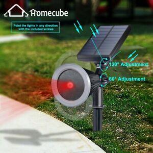 Waterproof LED Solar Laser Landscape Light Projector Christmas Party Decor Lamp