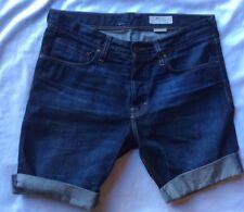 H&M Denim Shorts SLIQ LOW WAIST SLIM LEG Button Fly Denim