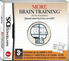 MORE BRAIN TRAINING GAME GIOCO NINTENDO DS USATO