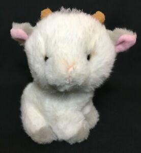 "Applause Goat White Gray Plush RARE Stuffed Animal 6"" Mini Toy 49591 RARE"