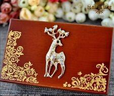 Unique Deer Wood Jewelry Music Box : Love Story ( Handmade Item)