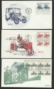 US 1980s lot of 6 transport coil FDC- Tudor House cachet- attractive and unusual
