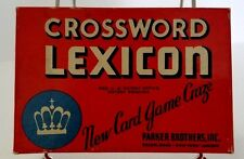 Vintage Crossword Lexicon New Card Game Craze