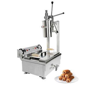 ALDKitchen Churros Machine | 3-Hole Nozzles | Manual | No plug | Deep Fryer