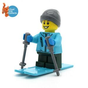 Genuine NEW Lego Winter Seasonal Skier Male Boy Minifigure with Accessories