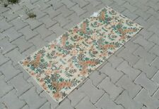 turkish runner,2x4 ft,Turkish Rug,Anatolian Rug,Bohemian,Vintage rug,Oushak Rug