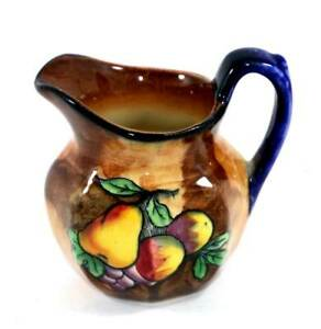 Vintage H&K Tunstall ENGLAND Hand painted small jug P Grocutt