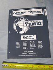 Johnson Evinrude EOB 2 + 4 Electric Outboard Boat Motor Parts Catalog PN 438184