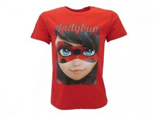 T-Shirt Original Miraculous Ladybug Official Red Jersey Face Eyes Lady Bug