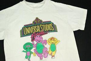Vintage 90s Barney Dinosaur TV Promo Universal Studios T Shirt Youth Boys M/L