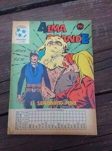 """VTG 1973 MEXICAN COMIC ALMA GRANDE No. 614 """"EL SANGUINARIO PUMA"""" ED. HERRERIAS"""