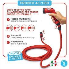 Pompa Innaffiatura Giardino Terrazzo Yo Yo by Fitt Tubo Estensibile 15 mt