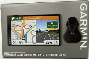 "Garmin DriveSmart 61 GPS Lifetime Mapping Friction Mount 6.95"" Display Bundle"