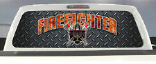 TRUCK REAR WINDOW DECAL FIREFIGHTER FIRE DEPT. FIRE RESCUE MALTESE CROSS TINT...