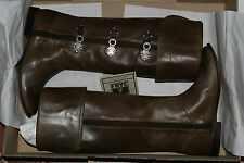FRYE PAIGE CLOVERTAB CUFF FAWN (OLIVE GREEN) LEATHER SIZE 6 $458