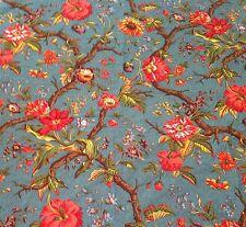 Charles Burger Paris Floral Toile Fabric Arbre Fleuri Bleu 4.25 yd MSRP $170/yd