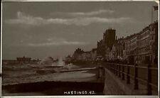 Hastings Sussex England ~1920/30 Promenade Esplanade Meer Sea Stadt City People