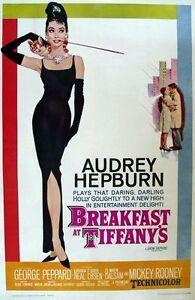 Breakfast at Tiffanys Audrey Hepburn Movie Poster  A2 Reprint