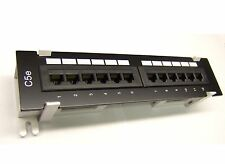 NEW CAT5e 12 Port Patch Panel RJ45 110 Network Mini Surface Wall Mount Bracket