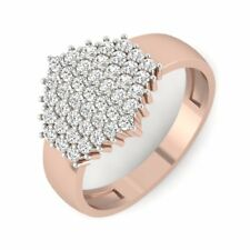 Round Cut Natural Diamond Wedding Ring 14Carat Rose Gold Sparkle Diamond Ring