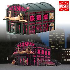 BUSCH 1004 H0 Sex Shop mit Beleuchtung ++ NEU & OVP ++