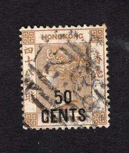 Hong Kong 1885 stamp SG#41 used CV=67,50$