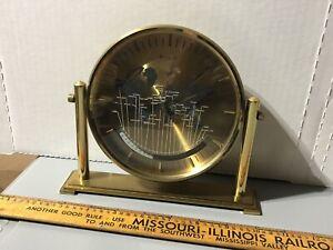 Kienzle World Benchmark Quartz Clock Brass Heavy 1980s? Hearne Produce Tested