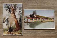 Taiwan 12 AK Dampflok Eisenbahn Landschaft 1950-1970s sugar-cane Koashan +++
